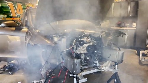 Watch the World's First V8 Tesla Swap Start Up for the First Time