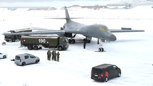 A B-1B Bomber Suffered Significant Engine Damage While Deployed To Norway