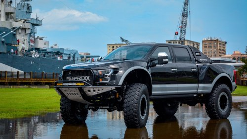 The MegaRexx MegaRaptor is a Ford F-250 On Equine Growth Hormone