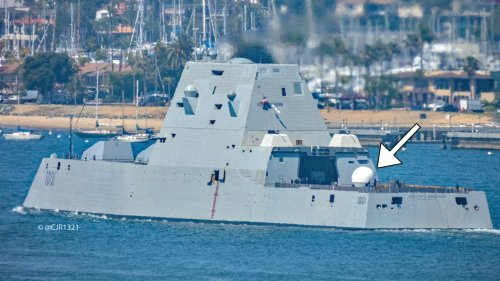 Navy Destroyers Seen Sporting Large Satcom Domes On Their Flight Decks For Big Drone-Focused Exercise