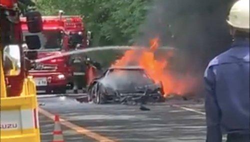 Ferrari F40 Burns To The Ground On Japan's Hakone Turnpike