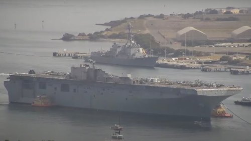 Fire Ravaged USS Bonhomme Richard Starts Its Death March To The Scrapper
