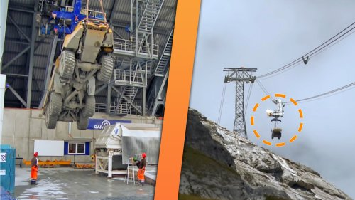 How the Swiss Transport Huge Mining Trucks Thousands of Feet Up to Alpine Work Zones