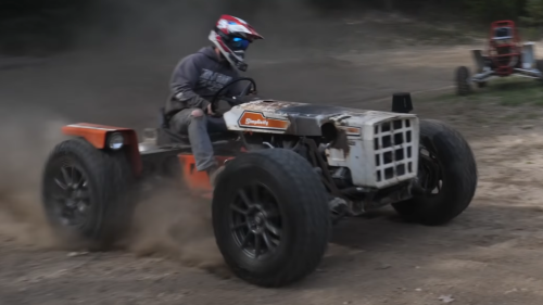 Watch That Sketchy 2JZ-Powered Lawn Tractor Finally Run and Drive