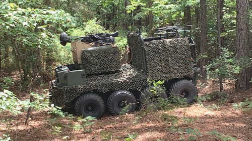 """Army Soldiers Are Now Training Against Missile-Toting """"Enemy"""" Unmanned Ground Vehicles"""