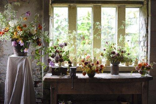 British Flowers Week: Florists unveil their floral window arrangements