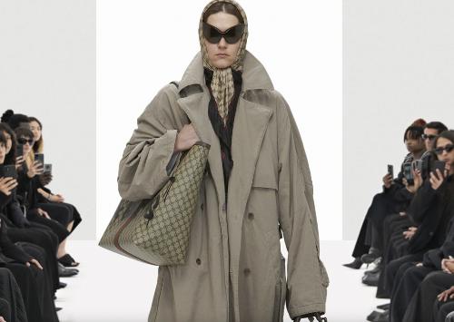 Gucci and Balenciaga Tie-Up Again, This Time Bringing Gucci Branding to Balenciaga's S/S2021 Runway | The Fashion Law