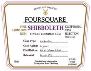 Foursquare Rum Distillery Shibboleth - thefatrumpirate.com