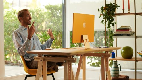 Apple All-New iMac 24-inch with M1 Chip comes in 7 bright colors with a 4.5K Retina display