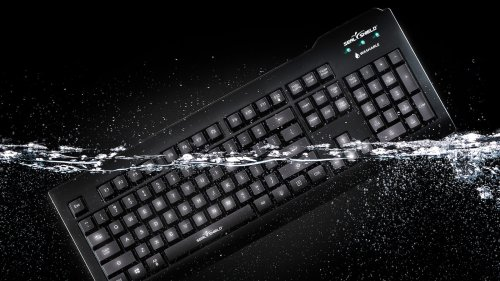 Seal Shield Silver Seal Glow Waterproof Keyboard offers a full-size True Type setup