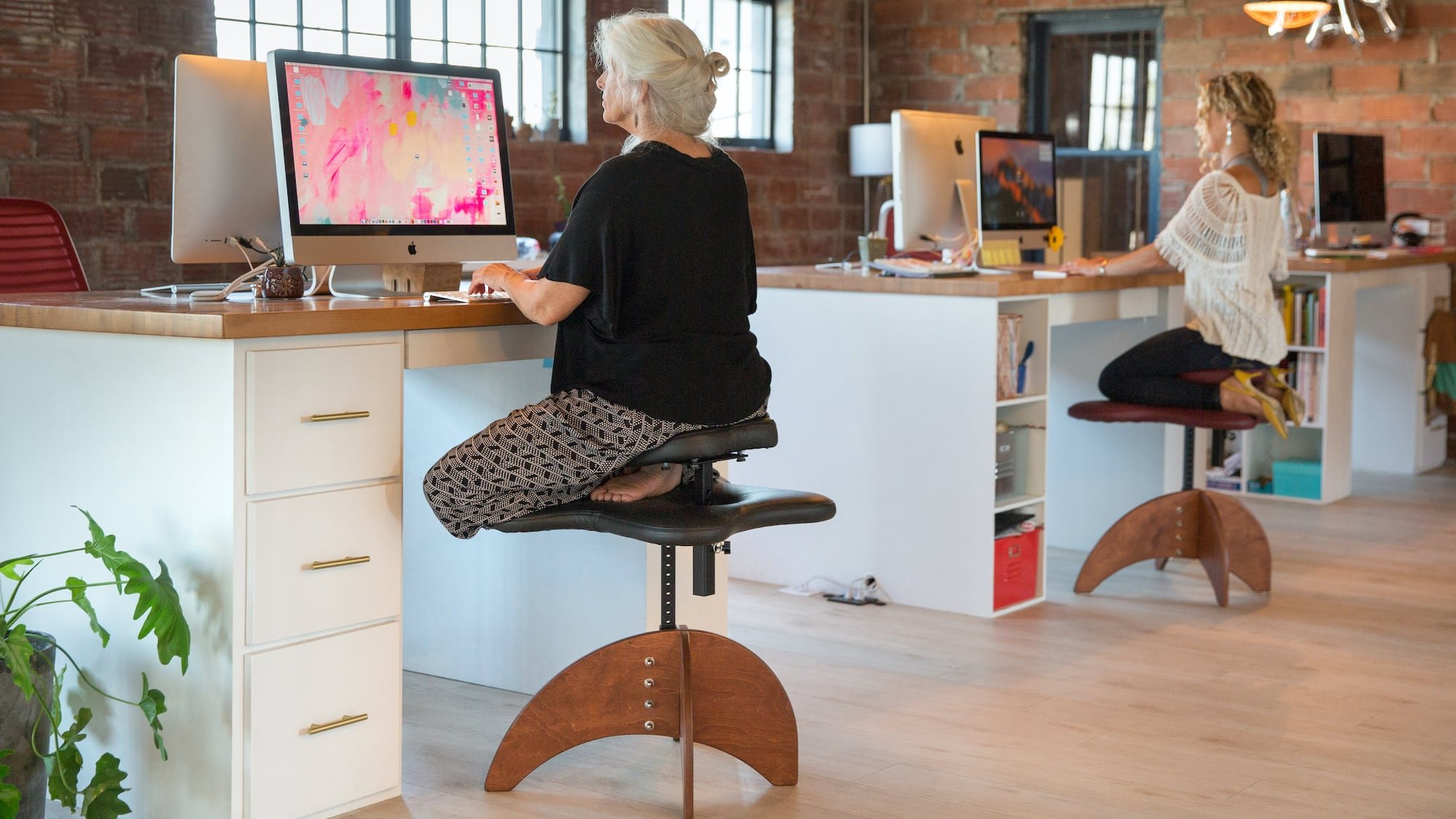 Bamboo Soul Seat healthy positioning chair helps you stay focused on work