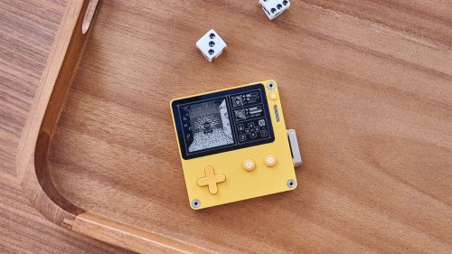 Panic Playdate handheld console has a black and white screen that helps you play