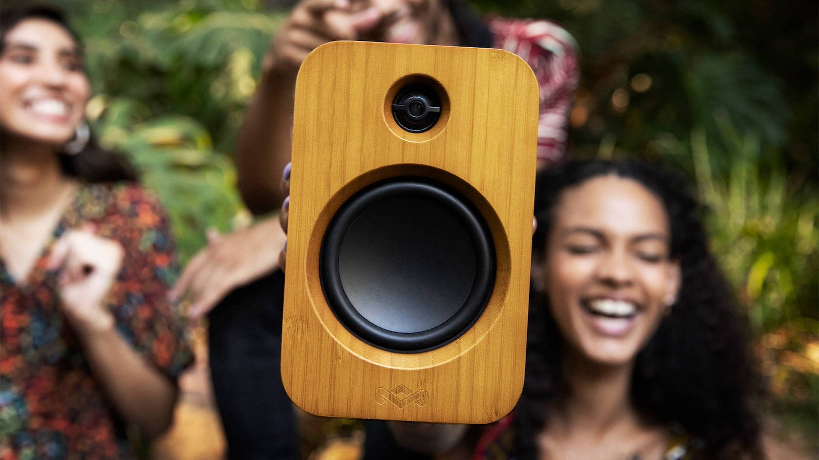 House of Marley Get Together Duo Bluetooth speakers have 3.5″ woofers and 1″ tweeters