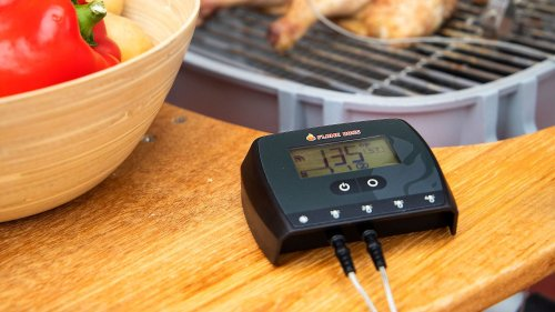 Flame Boss WiFi Thermometer monitors up to 4 temperatures simultaneously