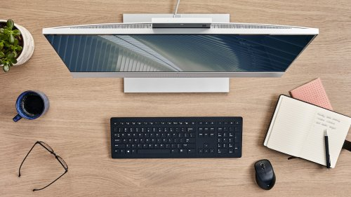 HP EliteOne 800 G8 All-in-One PC features AI-based noise reduction and Presence Awareness