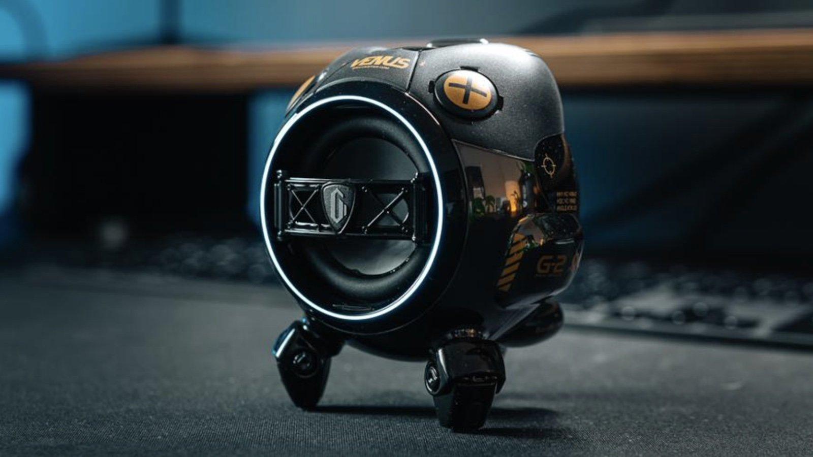 GravaStar Venus futuristic portable speaker has a unique design and a zinc alloy shell