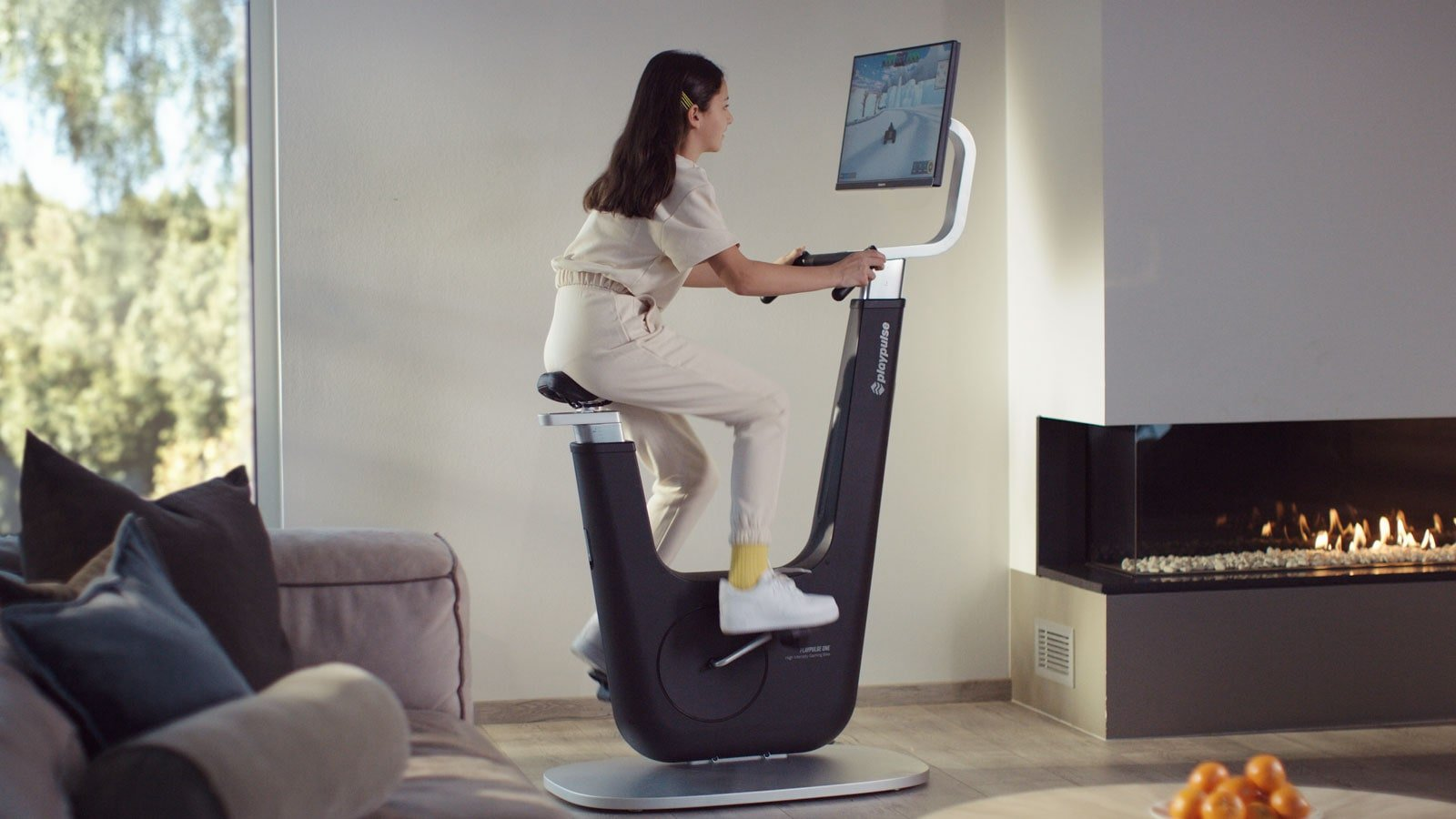 Playpulse ONE indoor gaming bike lets you control your games with the pedal sensors