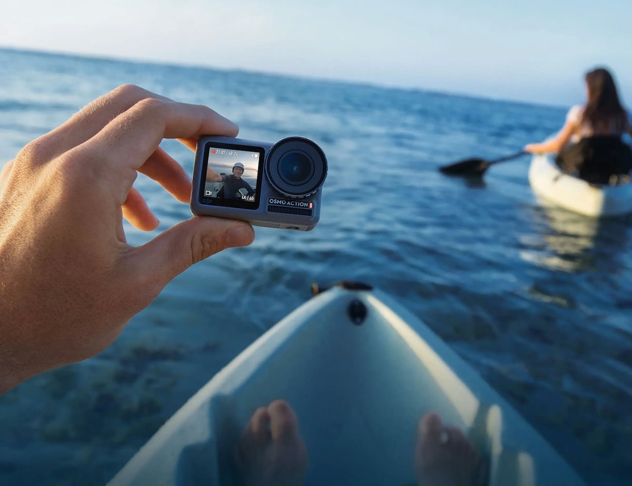DJI Osmo Action Dual Screen Video Camera lets you see the shot from either side