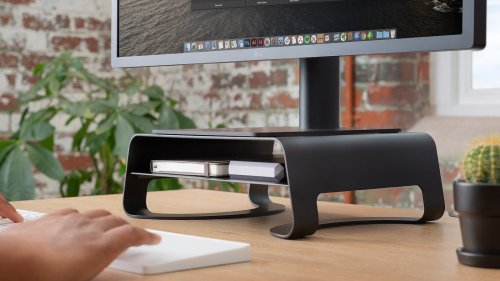 Twelve South Curve Riser iMac stand has a ventilated design that offers better airflow