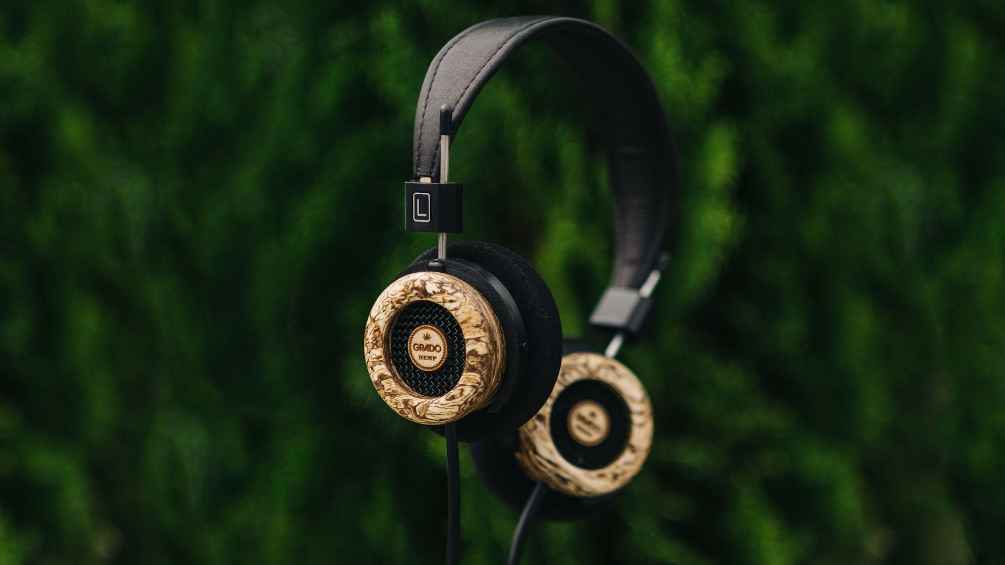 Grado Labs The Hemp Headphone Wooden Earphones are compressed to create a damping effect