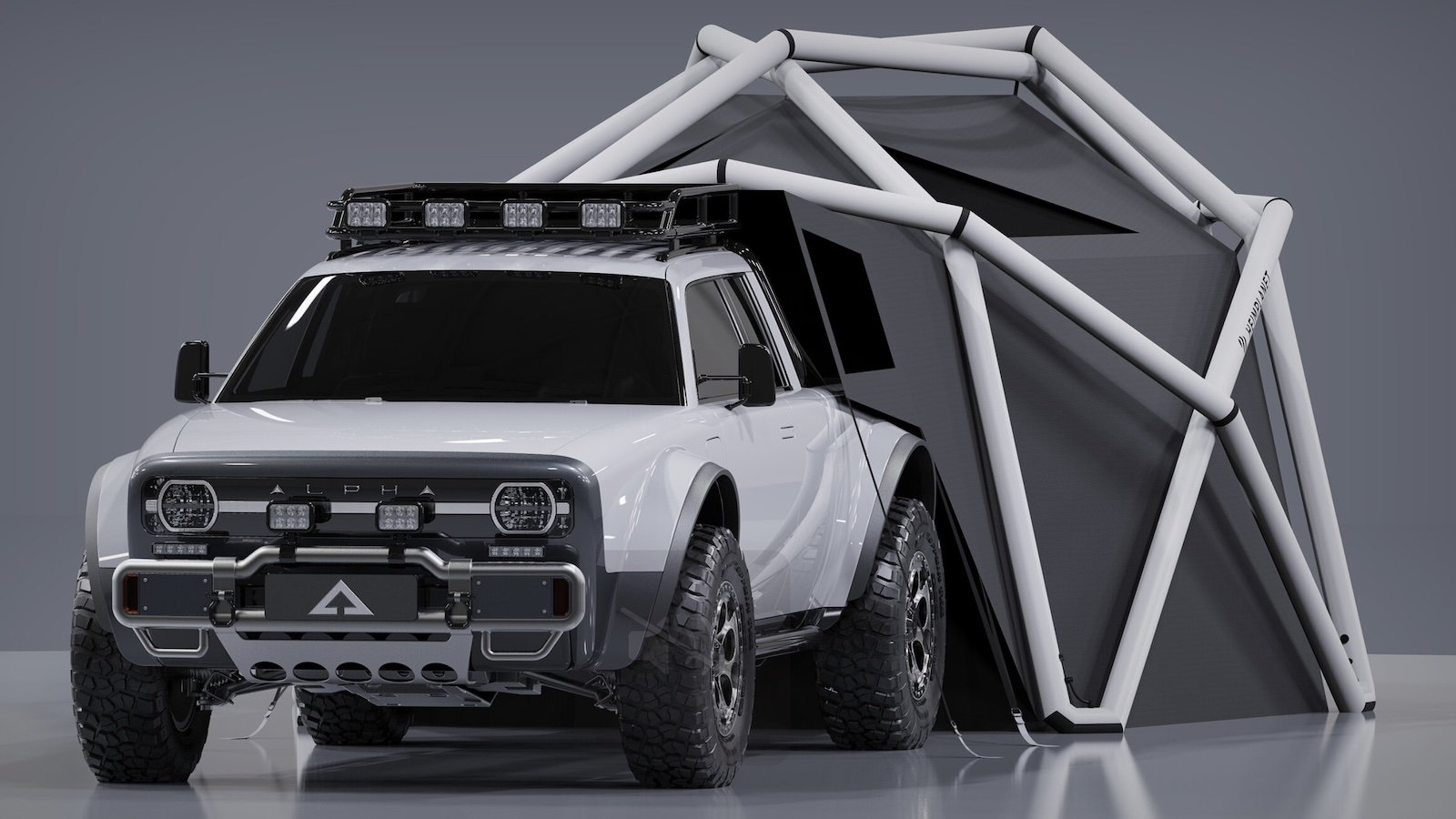 AMC X HEIMPLANET Collaboration WOLF+ TRUCK and CLOUDBREAK TENT lets you camp anywhere
