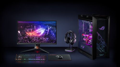 ASUS ROG Throne Qi gaming headphone stand features wireless charging