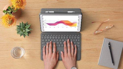 "Logitech Combo Touch backlit keyboard case fits the new iPad Pro 12.9"" & iPad Pro 11"""