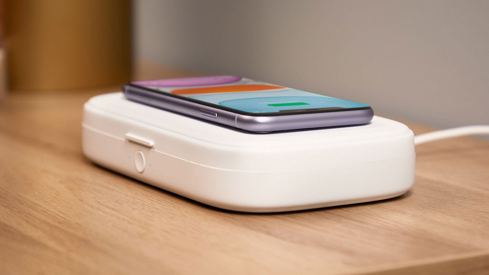 Belkin BOOST↑CHARGE UV Sanitizer + Wireless Charger charges and sanitizes your phone