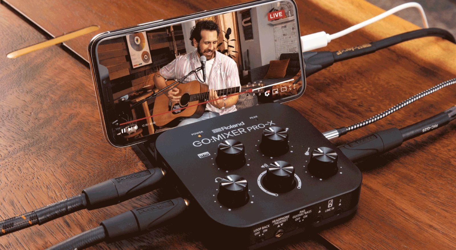 Roland GO:MIXER PRO-X audio mixer connects and mixes up to 7 audio input sources