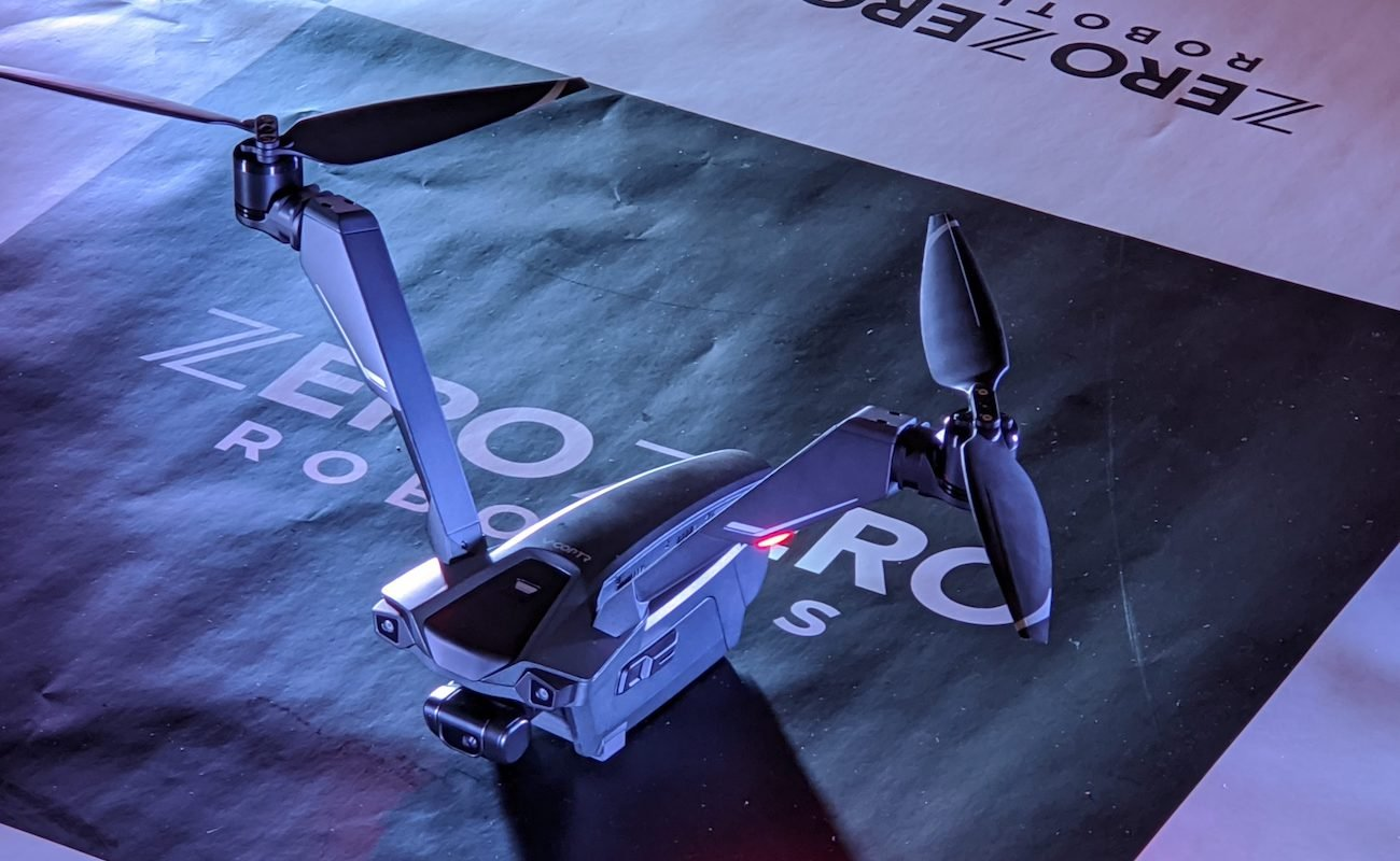 Zero Zero Robotics V-Coptr Falcon Bicopter Drone flies longer than your average drone