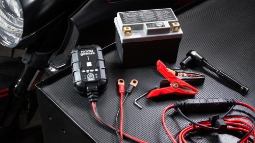 NOCO GENIUS1 smart vehicle charger is a battery charger, maintainer, and desulfator