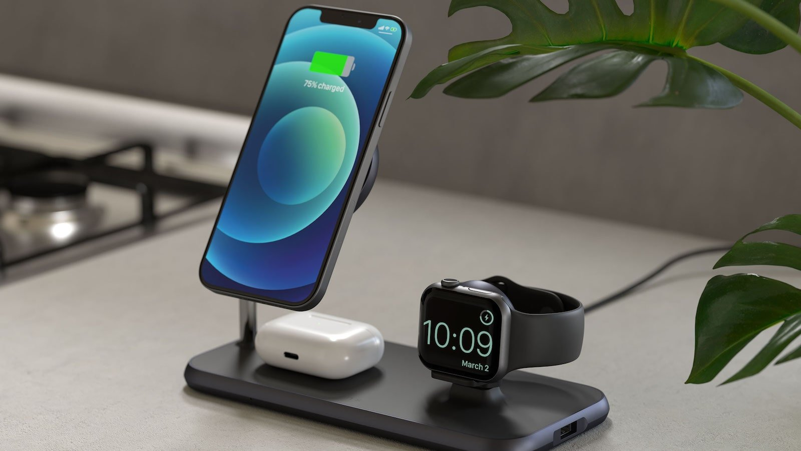 Zens Magnetic + Watch Wireless Charger powers your iPhone, AirPods, and Apple Watch