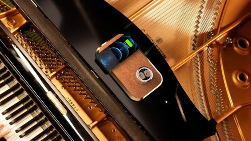 Volonic Valet 3 limited-edition wireless charging device is made of solid 18K yellow gold