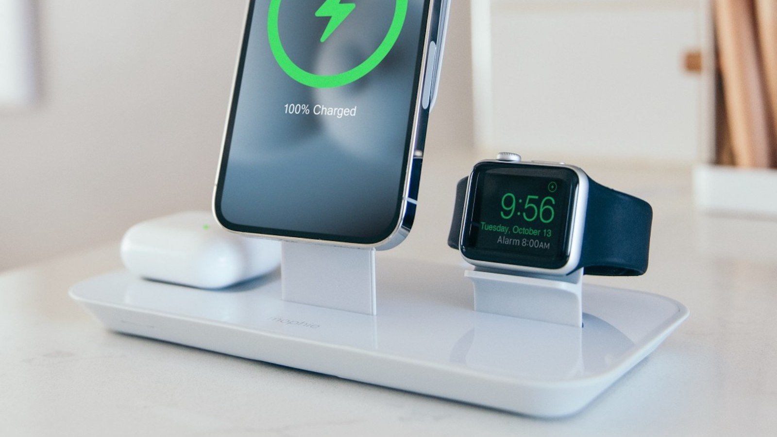 mophie 3-in-1 Stand for Magsafe Charger powers your iPhone, Apple Watch, and AirPods