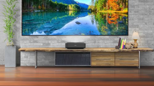 Epson EpiqVision Ultra LS300 Smart Streaming Laser Projector has built-in Android TV