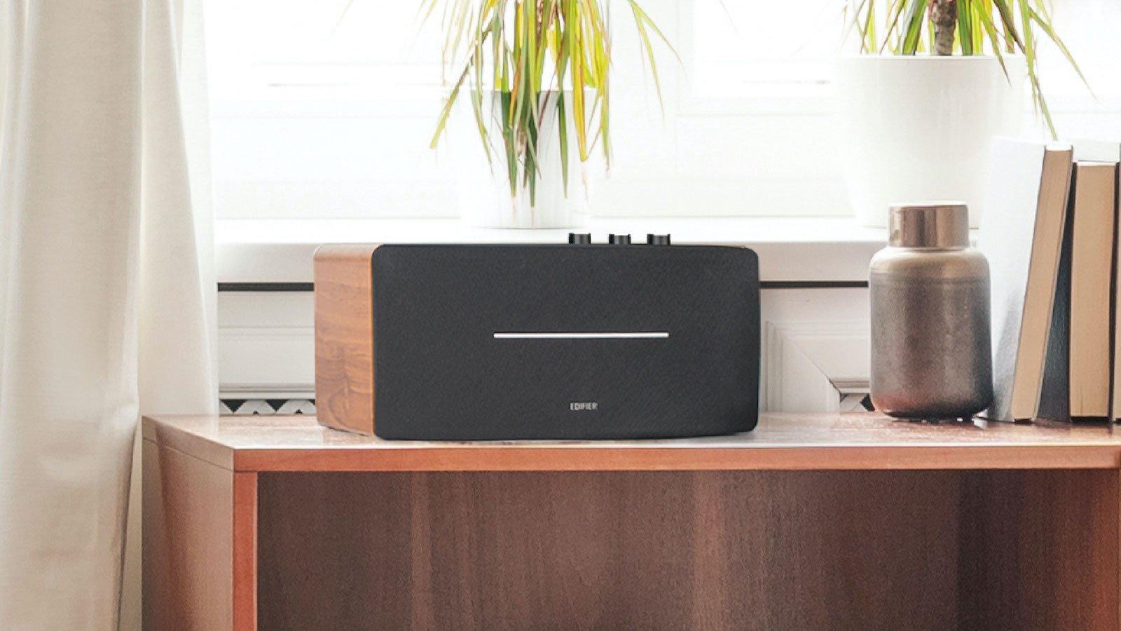 Edifier D12 desktop stereo speaker has versatile connectivity and top-notch sound