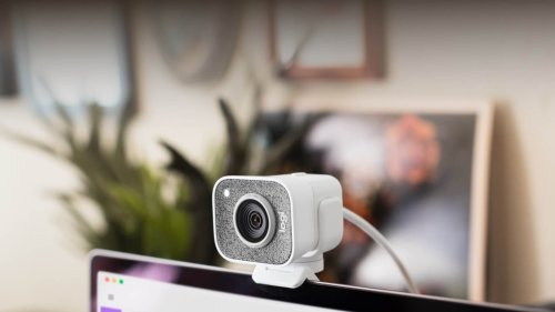 Logitech StreamCam broadcasting camera has dual front-facing microphones for streaming