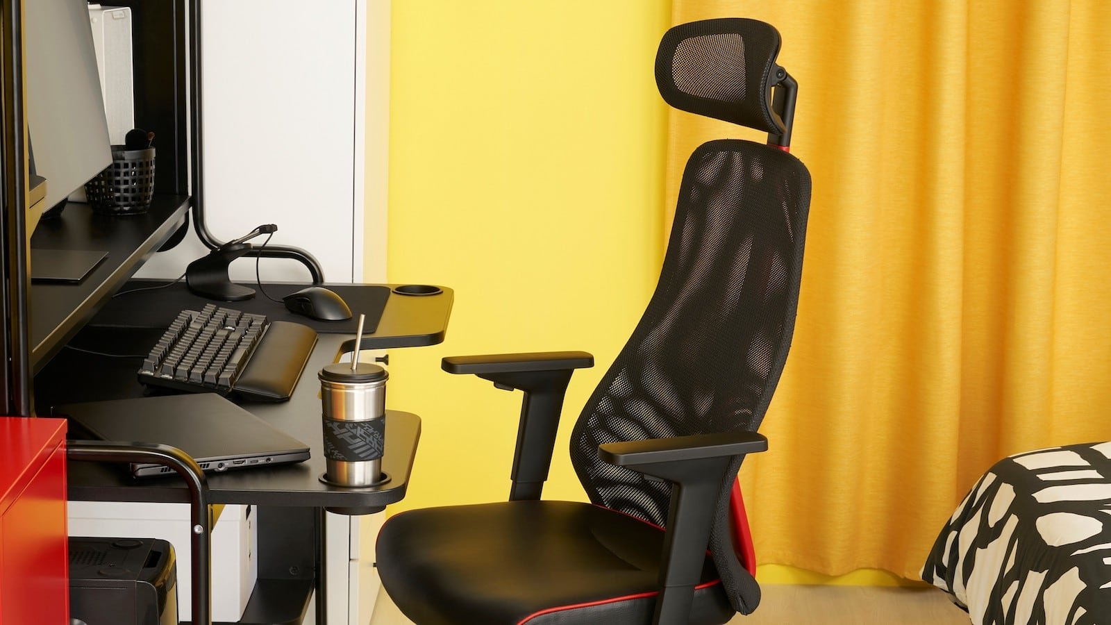 IKEA MATCHSPEL gaming chair provides adjustable support