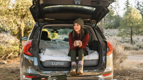 Luno Air Mattress 2.0 is designed for car camping and accommodates two people