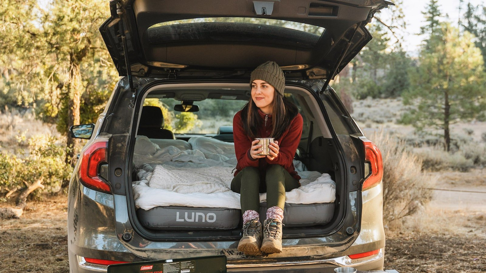 Luno Vehicle Air Mattress 2.0 is designed for car camping and accommodates two people