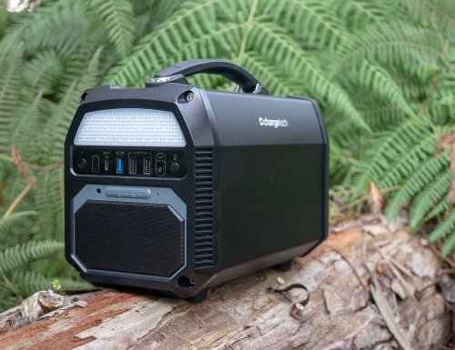 ChargeTech Portable AC Power Station has a 124,000 mAh battery capacity