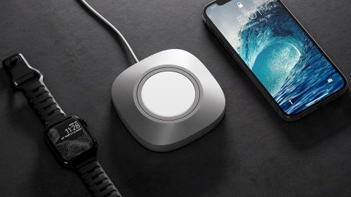 Nomad MagSafe Charger Mount for iPhone 12 securely holds your MagSafe Charger