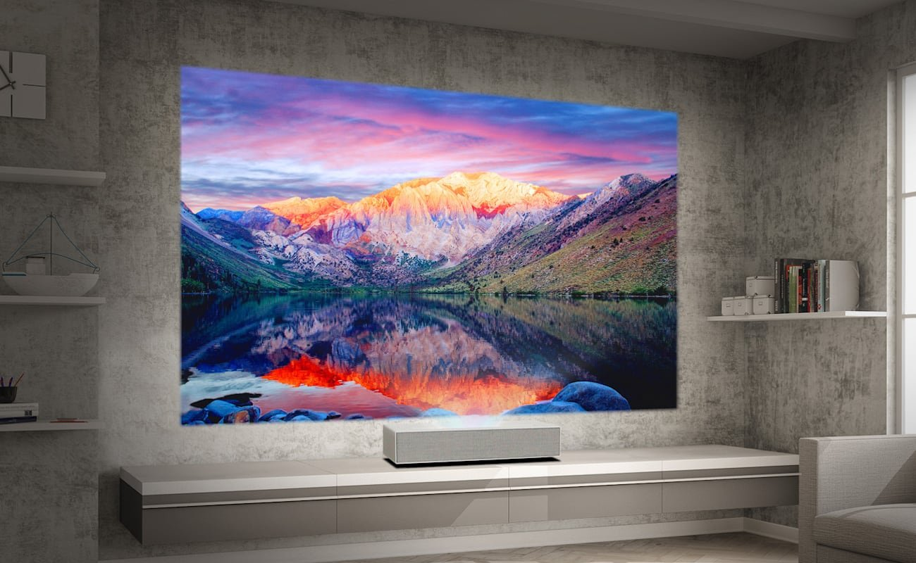 LG HU85LA CineBeam Smart Laser Projector is a portable home theater system