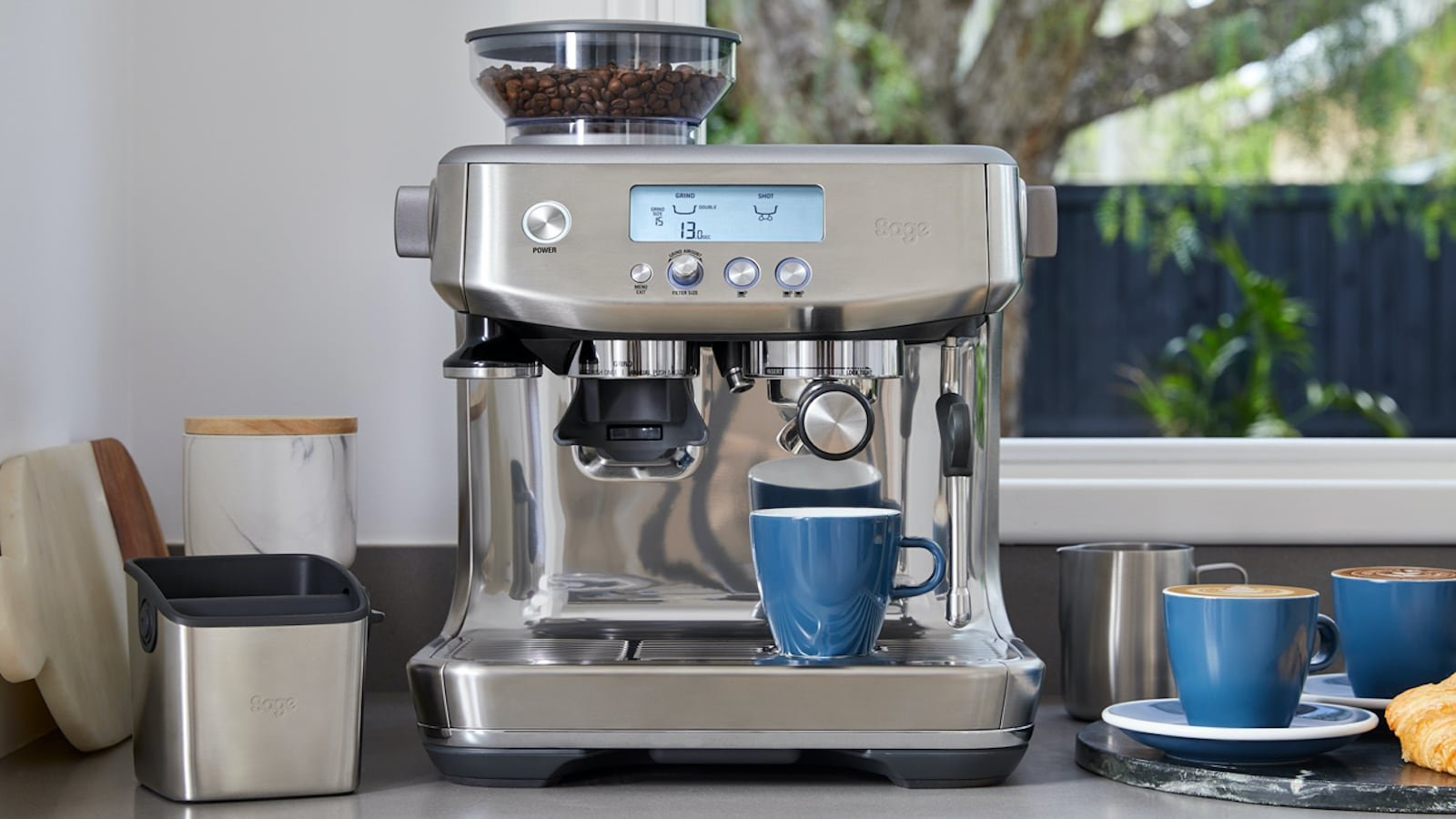 Breville the Barista Pro Espresso Machine gives you barista-quality drinks at home