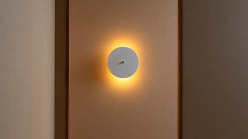 Lamel Sconce and Hardwired minimalist home light reflects the dual light source