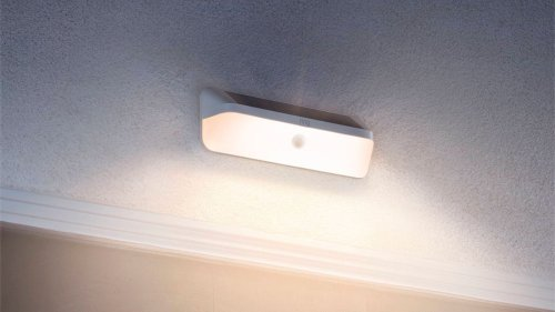 Ring Wall Light Solar lights 800 lumens of light when it detects motion