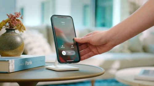 Twelve South Forté for iPhone 12 charging stand docks your phone and has flexible angles