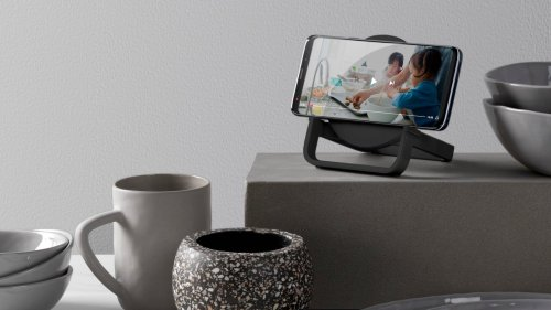 Belkin BOOST↑CHARGE Wireless Charging Stand + Speaker provides up to 10W of power