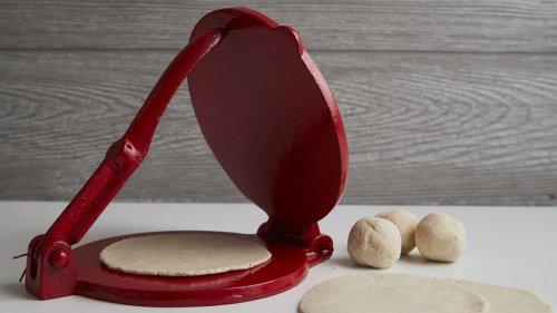 Verve Culture Tortilla Press Kit features cast iron for uniform homemade tortillas