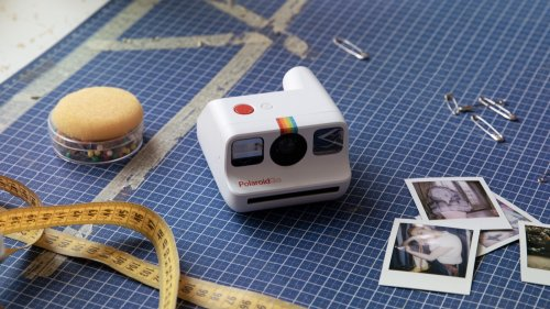 Polaroid Go camera is a pocket-size instant analog camera with a self-timer